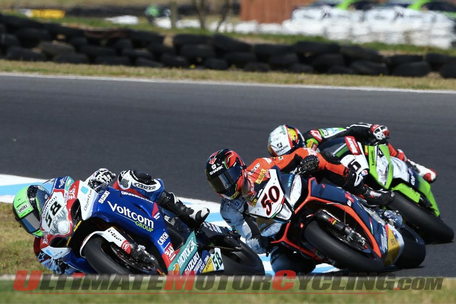 Voltcom Suzuki's Eugene Laverty at Phillip Island
