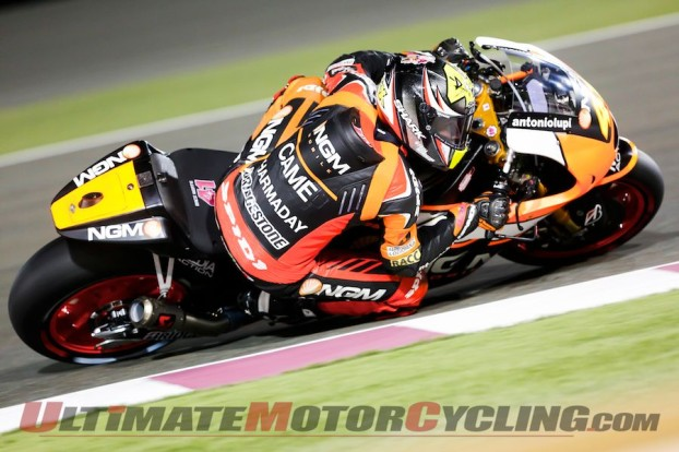 2014 Qatar Qualifying Results | Honda's Marquez on Pole at Losail  2014 Losail MotoGP Qualifying Results   Six weeks ago, the reigning MotoGP Champion Marc Marquez suffered a major setback - the Repsol Honda pilot broke leg during a dirt-track training accident.  This caused the 21-year-old Spaniard to miss the two final preseason test sessions. And at the first Sepang preseason test, Marquez was untouchable, making his absence even worse for the Repsol Honda team.  And things started slowly at free practice for the opening round of 2014 MotoGP at Qatar's Losail Circuit. But this wasn't the case during Saturday's qualifying - Marquez earned the pole with impressive 1:54.507 around the 3.34-mile circuit containing 16 corners.  Joining Marquez on the front row will be two Open-option machines - the GO&FUN Honda Gresini RC213V piloted by Alvaro Bautista and the Monster Tech 3 Yamaha piloted by Bradley Smith.  Bautista had the provisional pole, but finished qualifying 0.057 of a second back. Smith, who suffered a huge high side during Friday's FP3, finished only 0.037 of a second behind Bautista. This was his first-ever front-row qualifying result.  Ducati Team's Andrea Dovizioso placed the Ducati Team GP14, which runs under the Open-option rules, qualified fourth on top of the second row. He will be joined by Movistar Yamaha MotoGP's Jorge Lorenzo, who took the last two wins at Losail, and Repsol Honda's Dani Pedrosa. The latter two have both struggled at Losail.  LCR Honda MotoGP's Stefan Bradl qualifying seventh, 0.364 of a second behind Marquez, and will be joined by Q1 participant Ducati Team's Cal Crutchlow.  Rounding out the top 10 was NGM Forward Racing' Yamaha'sAleix Espargaro and Movistar Yamaha MotoGP's Valentino Rossi. Espargaro led the first three free practice sessions by a huge margin, but appeared to succumb to the pressure of Q2, crashing twice.  As for the Americans, NGM Forward Racing's Colin Edwards qualified 14th, 1.249 seconds back, and Drive M7 As