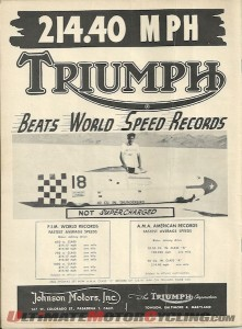 Motorcycle World Land Speed Record - Can Triumph do it again?