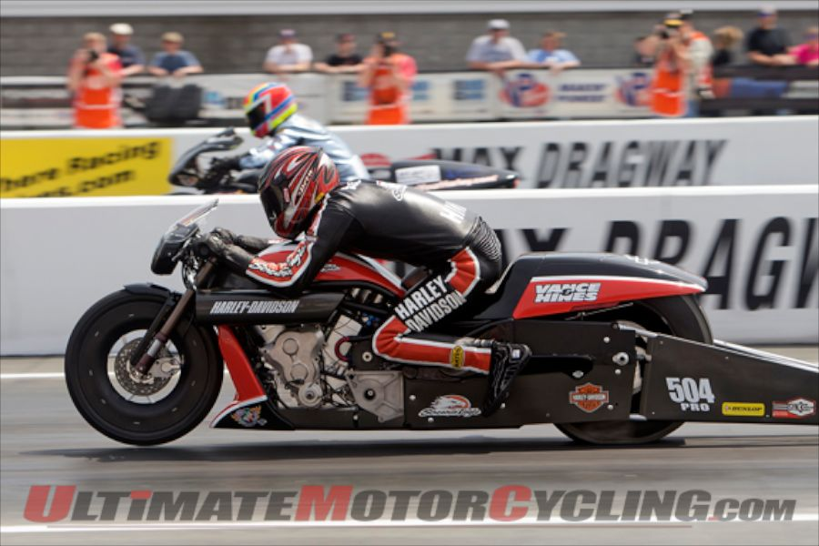 Harley's Hines Wins at Charlotte NHRA Four-Wide Nationals