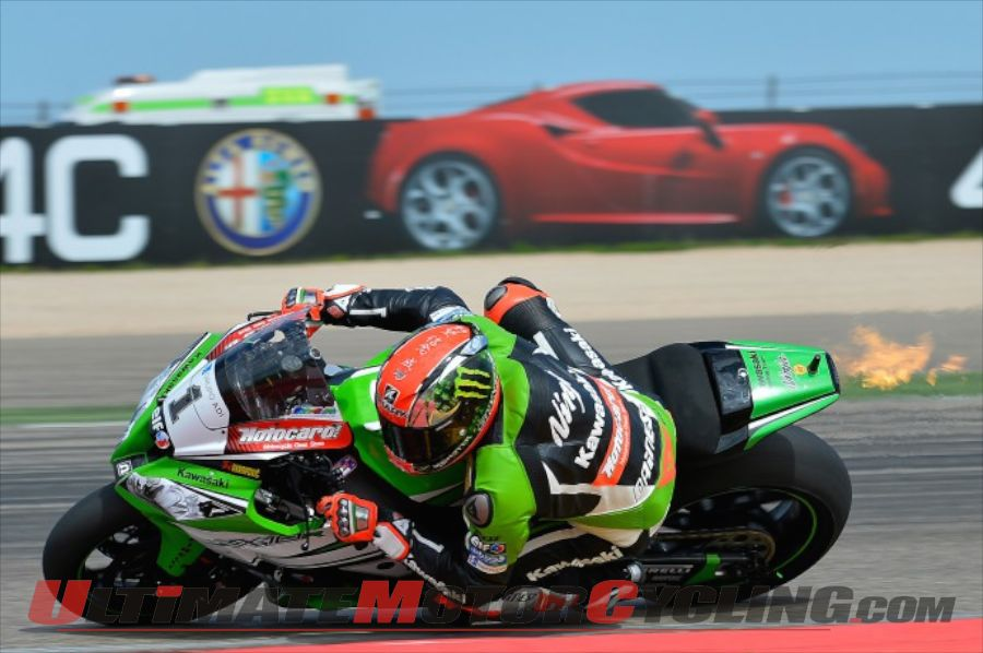 2014 Aragon Superbike Superpole Results - Kawasaki's Sykes on Pole