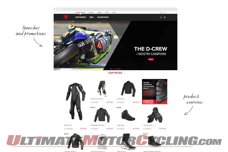 Dainese Redesigns Website For Enhanced User Experience