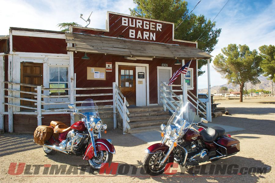 Harley Road King Vs. Indian Chief | American Bagger Renaissance