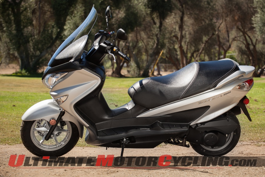 2014 suzuki burgman 200 first ride review. Black Bedroom Furniture Sets. Home Design Ideas