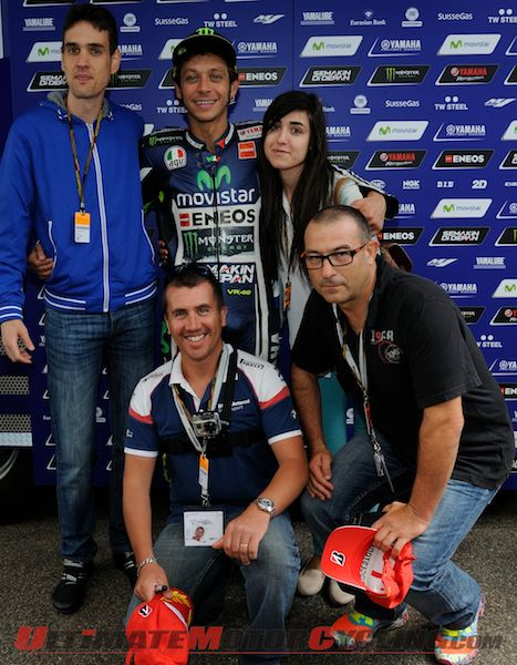 Valentino Rossi Meets Club46 Winners at Sachsenring MotoGP