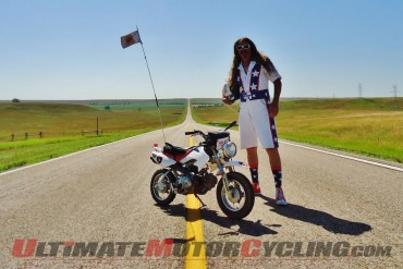 Bean're Rides Minibike 1407 Miles from KY to Sturgis - Breaks Record