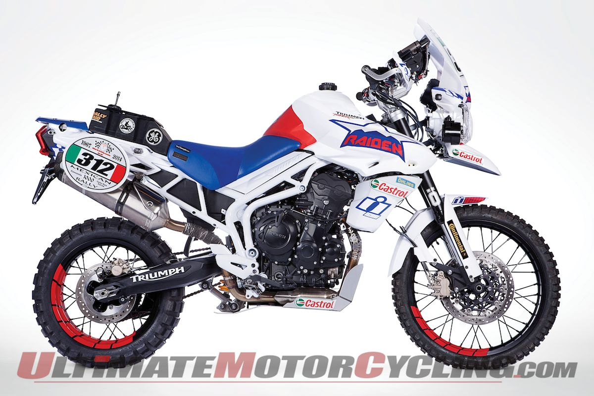 Up Close | Team Raiden Triumph Tiger 800 XC Baja Competitor