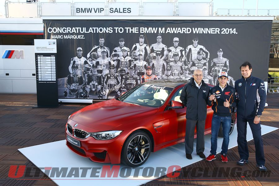 Marc Marquez Earns BMW M4 Coupe at Valencia