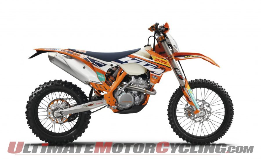 2015 KTM EXC 350 Factory Edition, side view