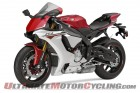 2015 Yamaha YZF-R1 in red (left side)