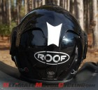 Reflective Material on Motorcycle Helmet