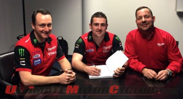 2015 IOM TT | Michael Dunlop Signs with Milwaukee Yamaha