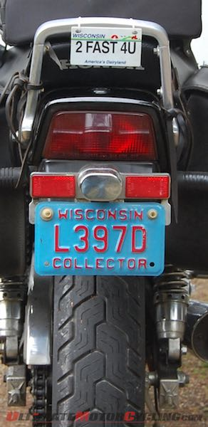 Motorcycle Blue Plate