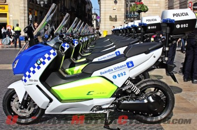 BMW C evolution Scooters for Bacelona Police