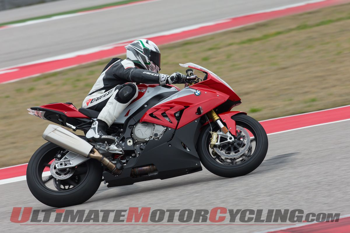 2015 BMW S1000RR Review left at speed