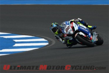 Suzuki's Lowes Nudges Rea in Chang SBK Practice