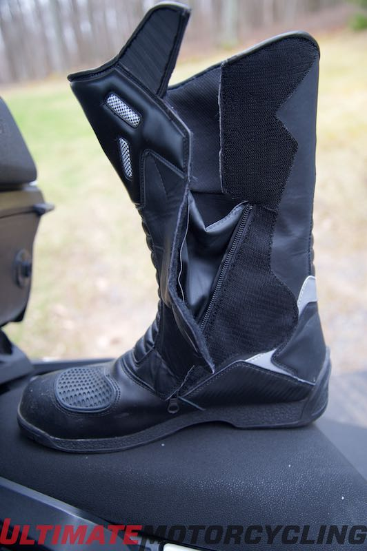 Gear Test: Joe Rocket Ballistic Touring Boot Review Open Boot