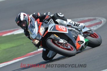 2016 Aprilia RSV4 RF Review | First Ride from Misano Circuit knee drag