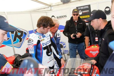 Guy Martin to Pilot Victory Prototype in Zero TT Martin in Pits