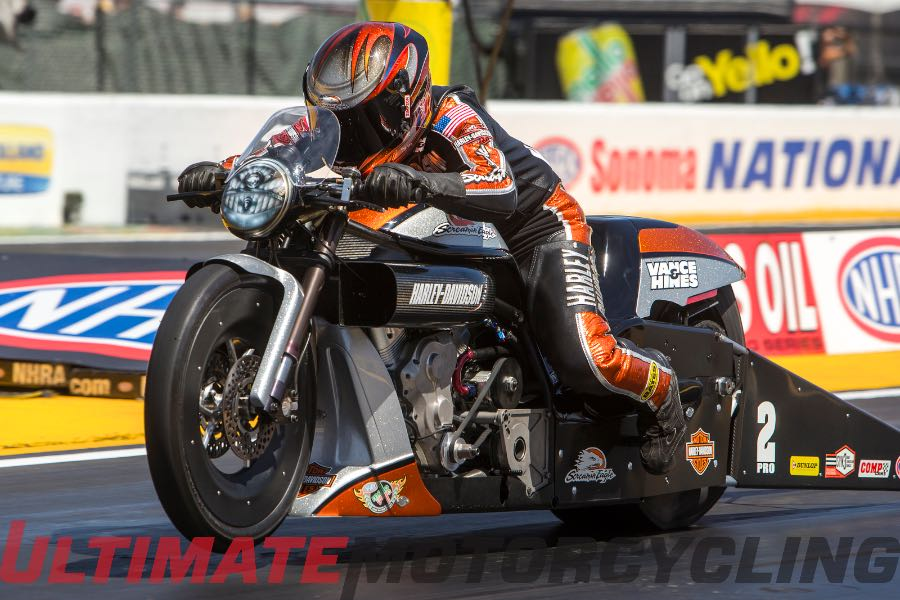 2015 Sonoma NHRA Pro Stock Motorcycle | Harley's Krawiec Sweeps Round