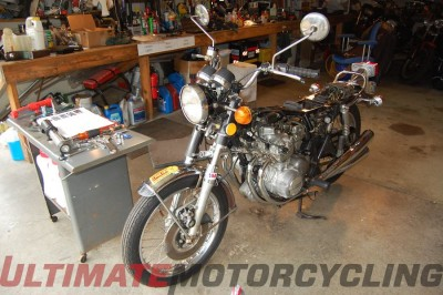 1974 Honda CB350F Bonneville Speed Record Holder - Rebuild Diary tear down