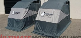 Speedway Shelters Updated | Retractable Motorcycle Covers