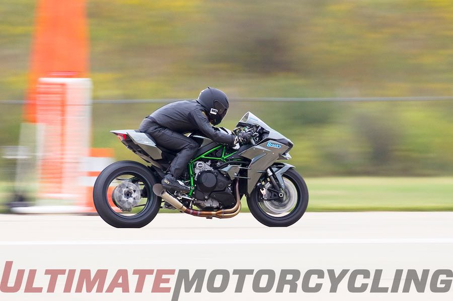Brock's Kawasaki Ninja H2 Breaks H2R's Land-Speed Record