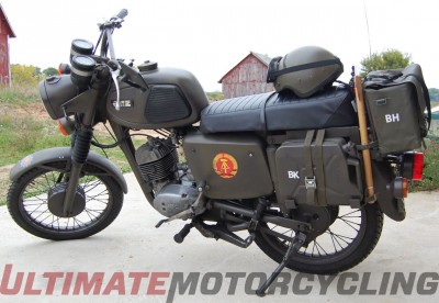 MZ East German Military Police motorcycle