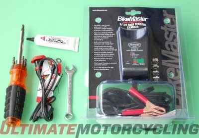 Motorcycle Battery Charger Installation