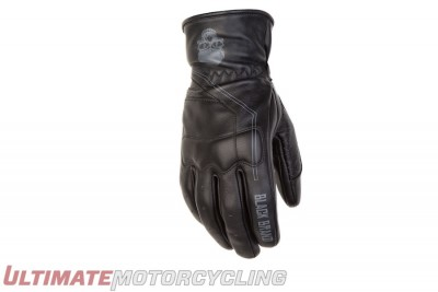 Black Brand Pinstripe Leather Gloves