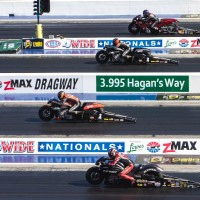 Harley's Andrew Hines Wins NHRA Four-Wide Nationals