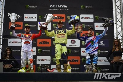 2016 MXGP of Latvia Results - Podium