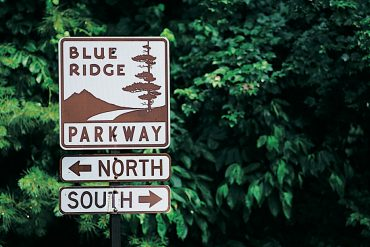 Signage along the Blue Ridge Parkway