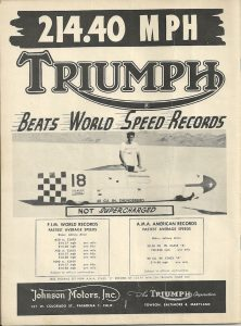Triumph Land Speed Record Cycle News