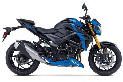 2018 Suzuki GSX-S750 First Look - blue profile