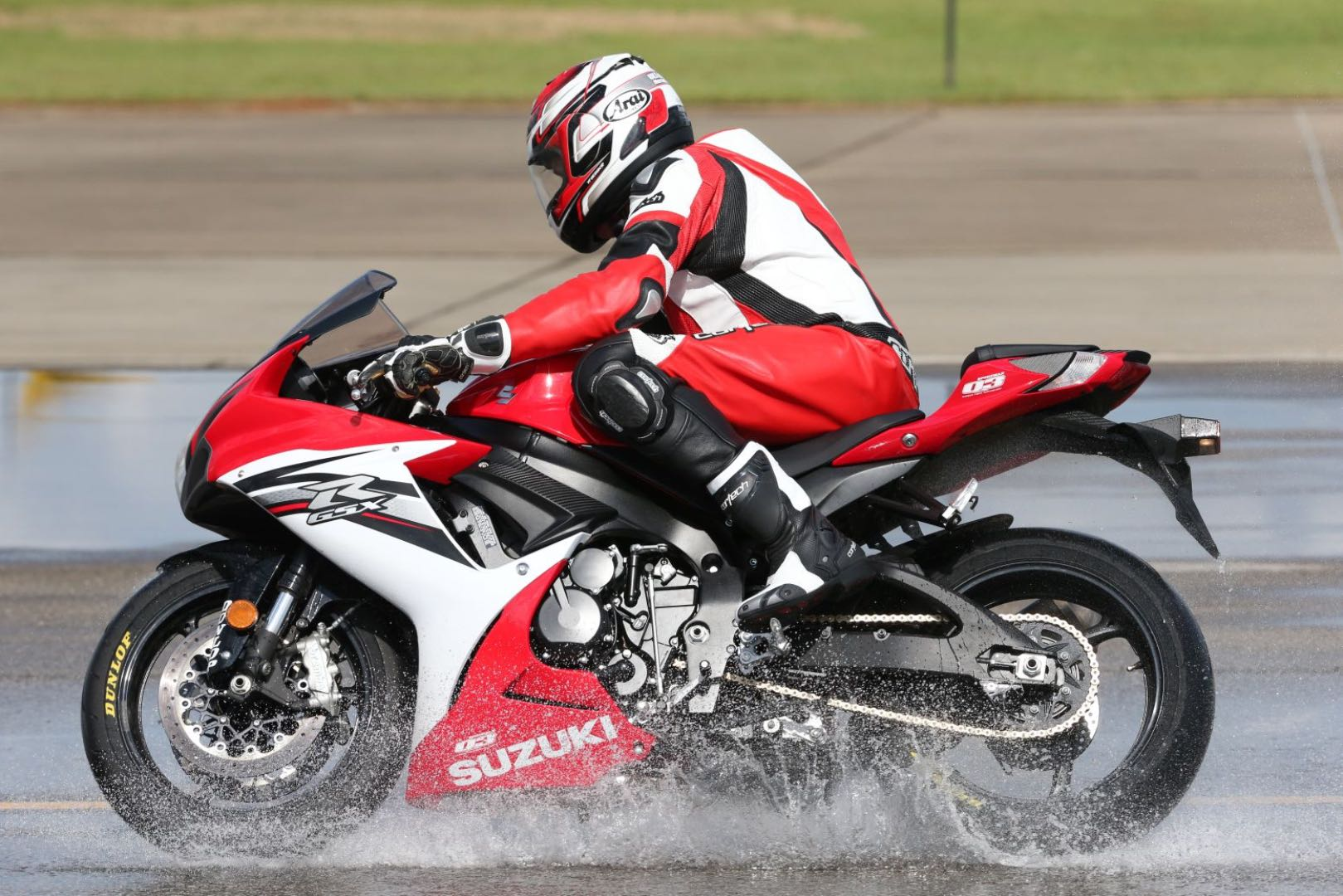 Motorcycle traction in rain
