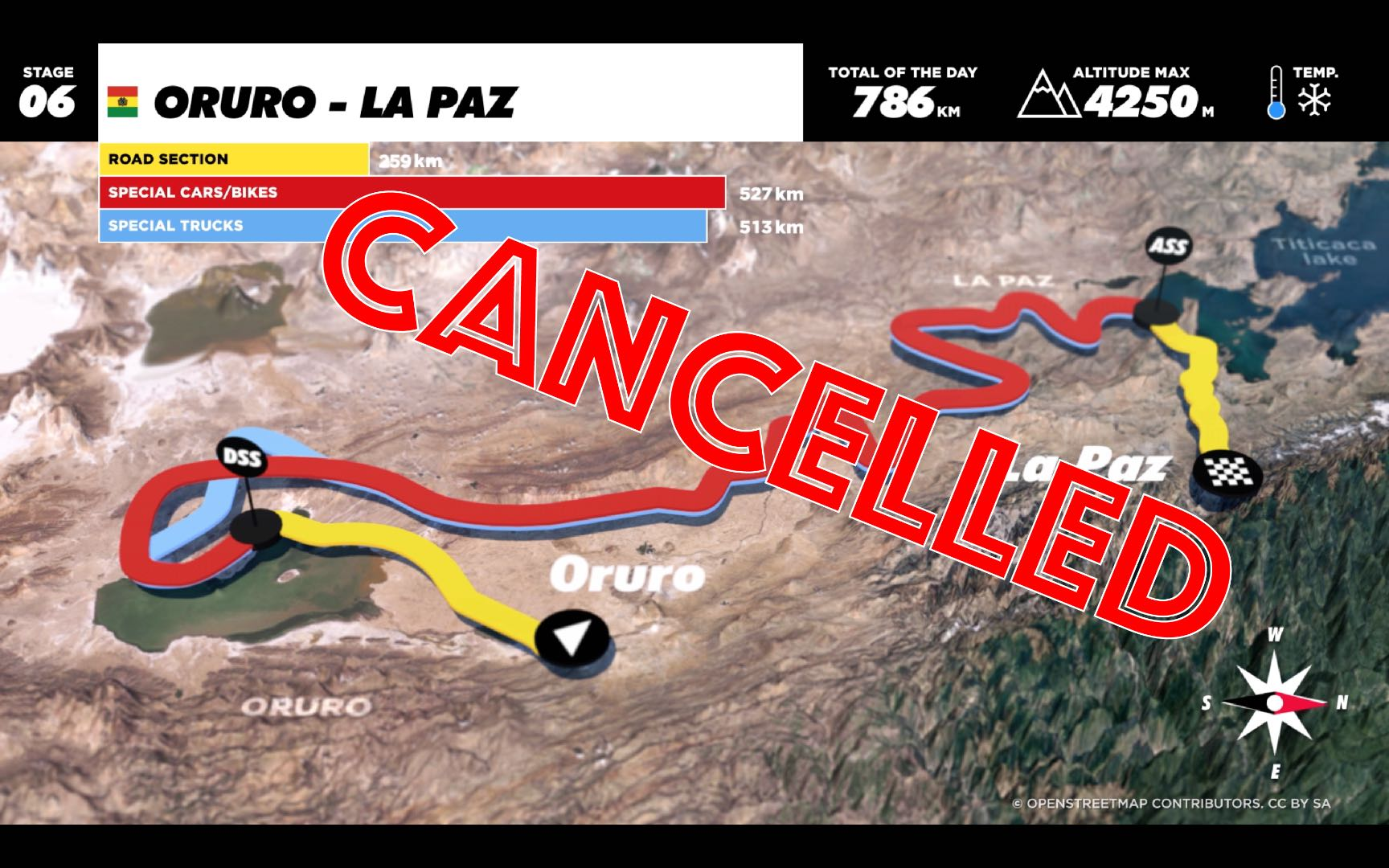 2017 Dakar Rally Stage 6: Canceled Due to Weather