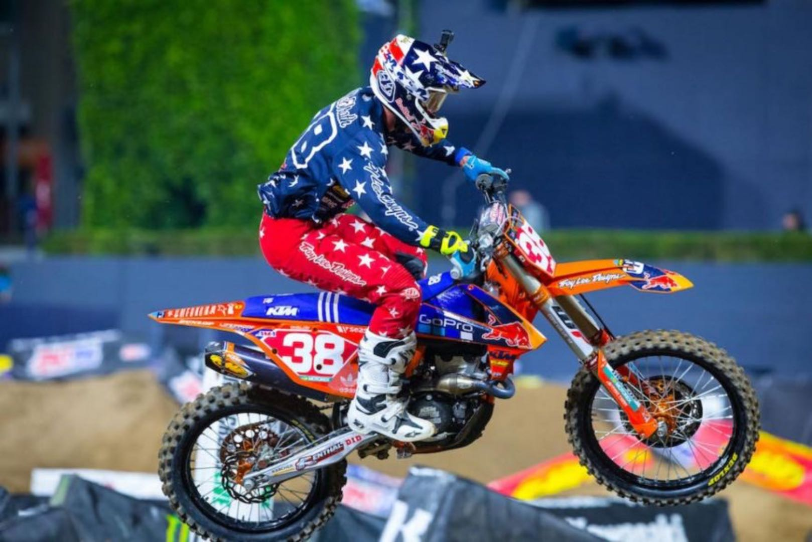 KTM Shane McElrath into Phoenix Supercross