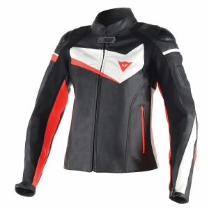Dainese Veloster Lady Leather Jacket Red