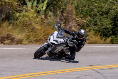Knee down on Ducati Multistrada
