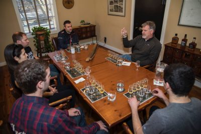 Ron Lieback and co whiskey tasting with Jeff Arnett Master Distiller