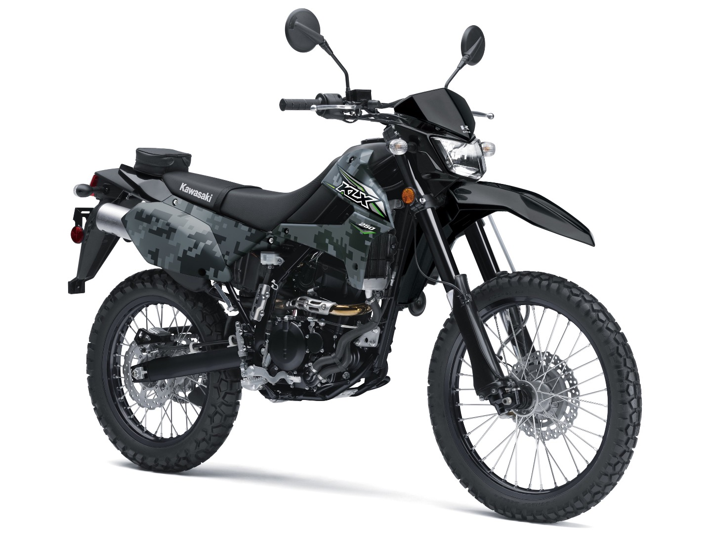 2018 kawasaki klx250 first look fast facts. Black Bedroom Furniture Sets. Home Design Ideas