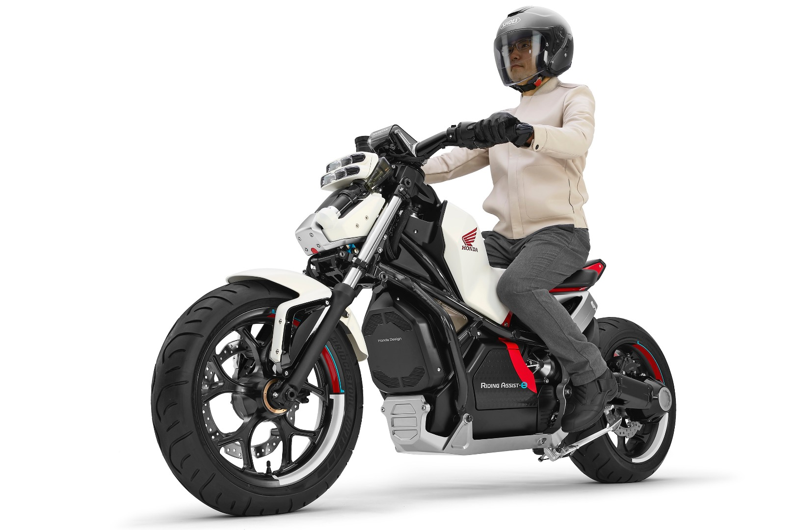 honda riding assiste debuts concept electric motorcycle