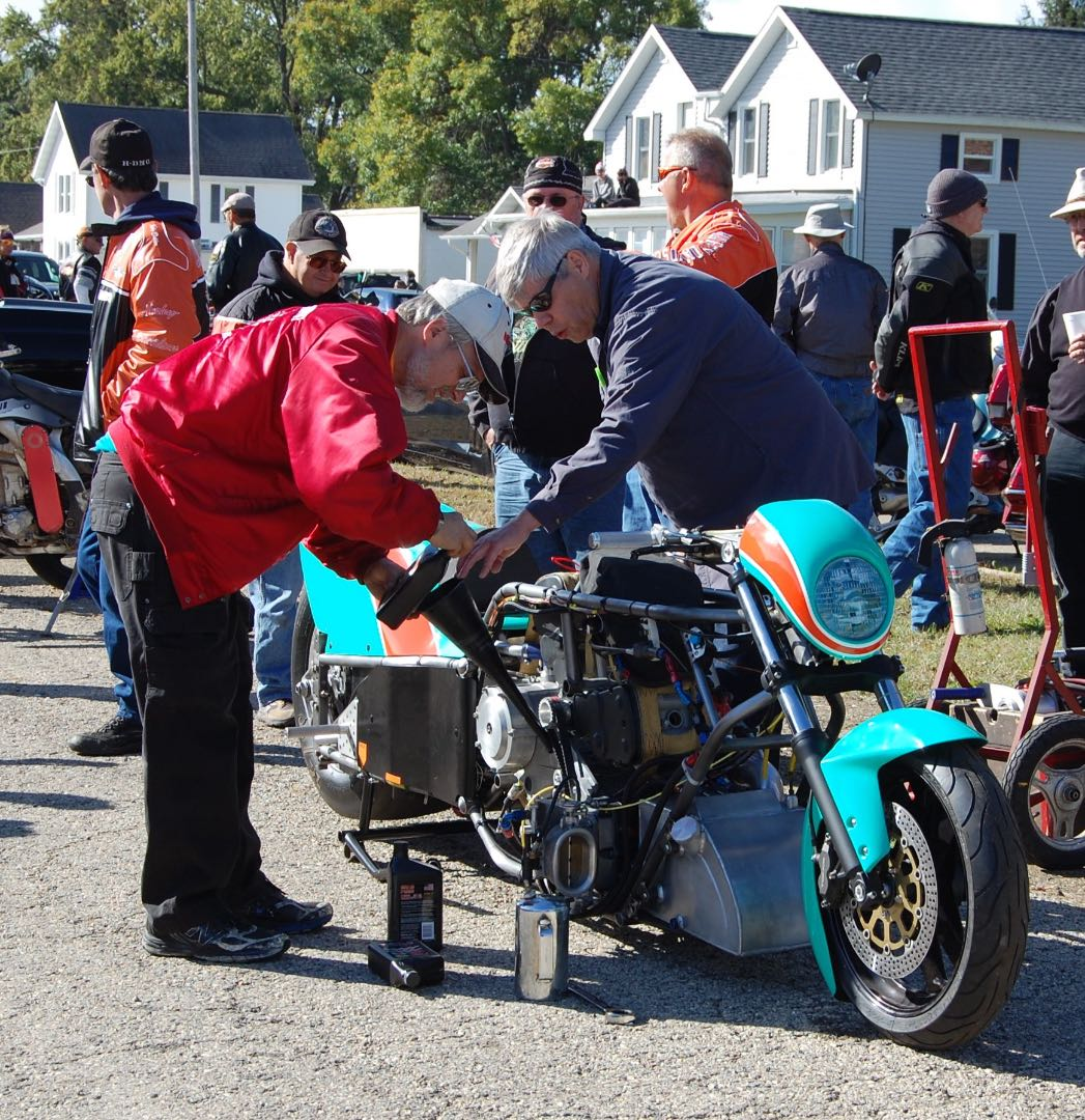 Nitro Buringing Ducati at Fall 2017 Slimey Crud Motorcycle Gang Café Racer Run