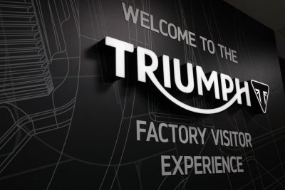 Triumph Motorcycles Factory Visitor Experience entrance