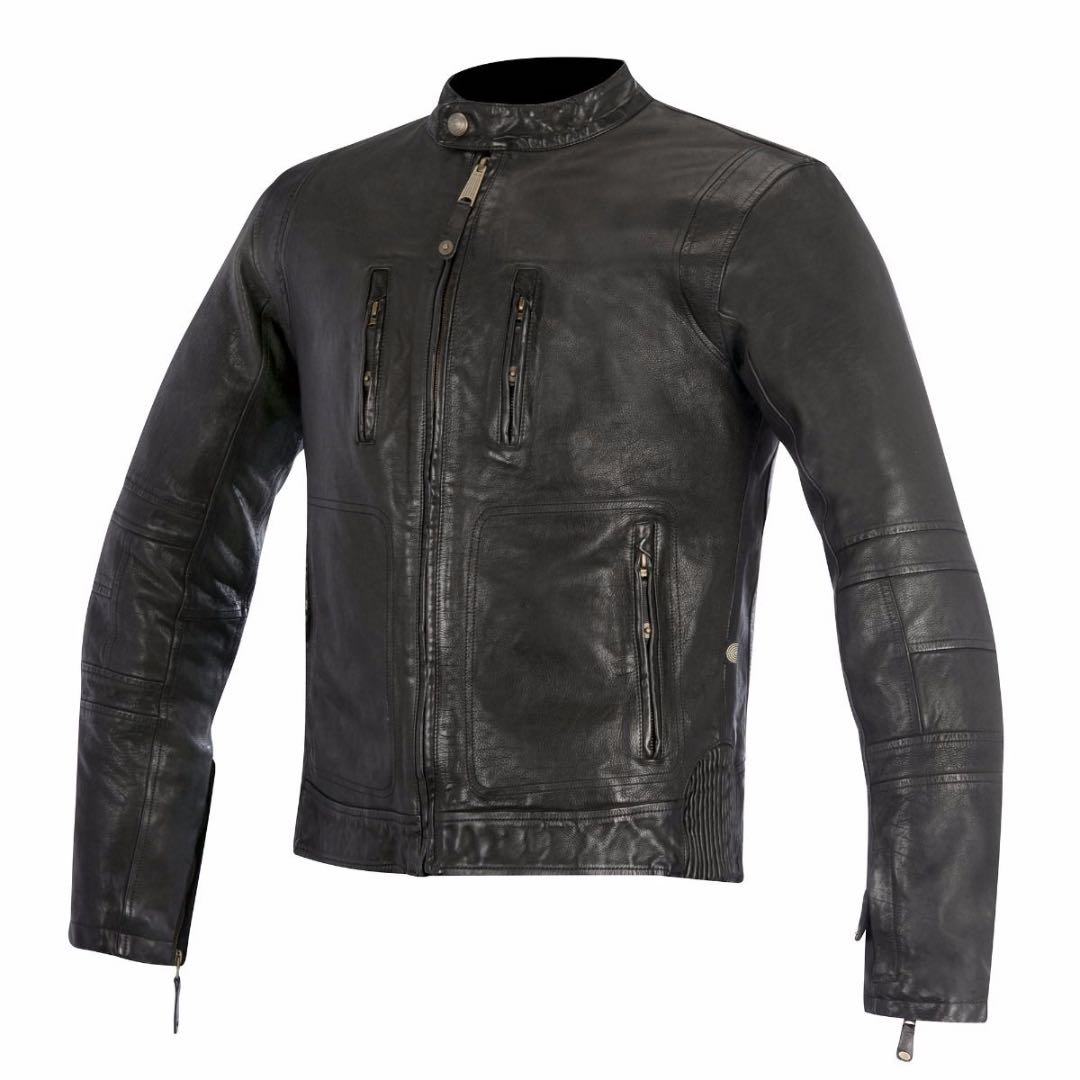Oscar by Alpinestars Brass Leather Jacket black