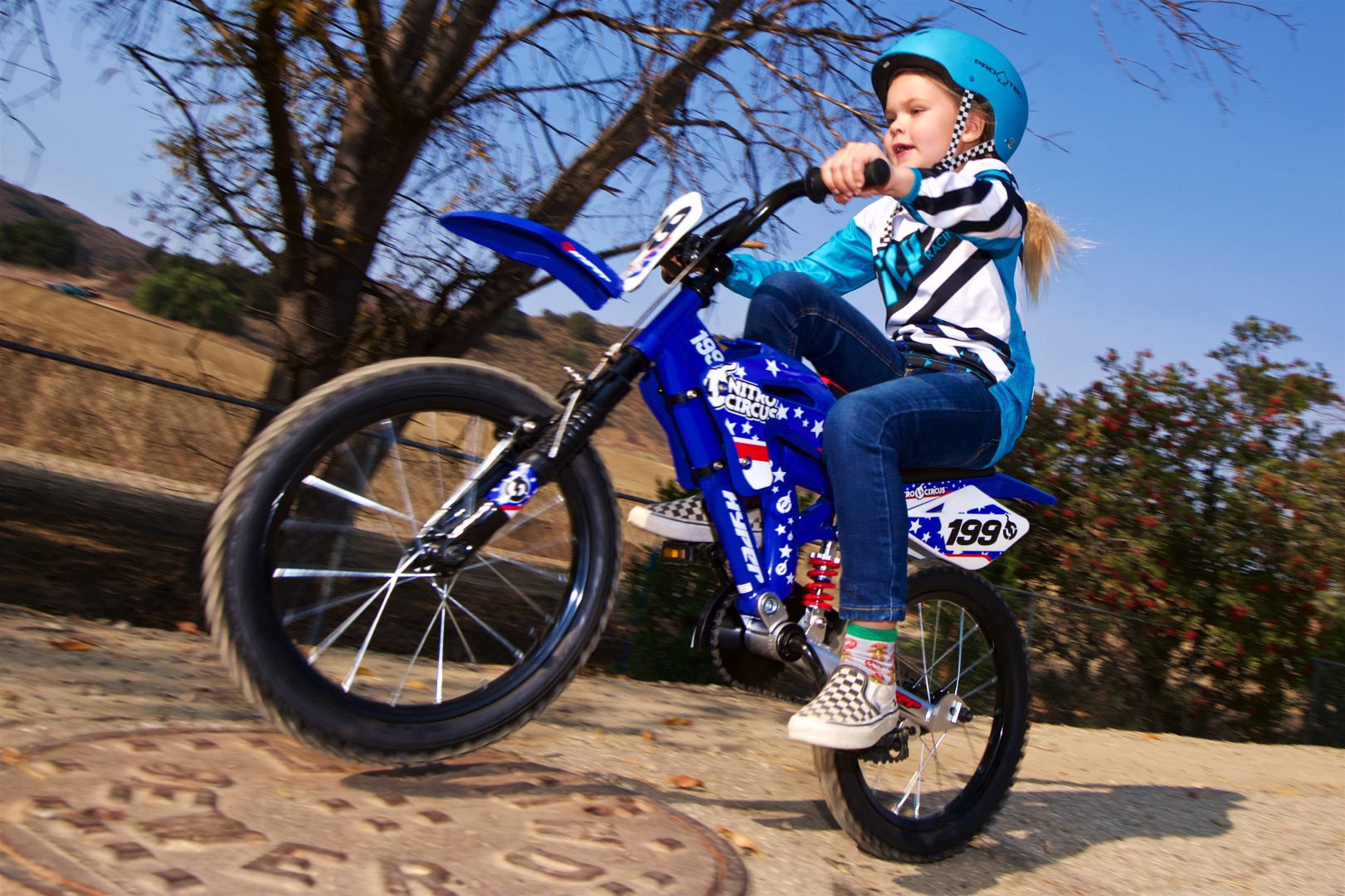 "Hyper 16"" Nitro Circus Motobike Kids' Bike safety"