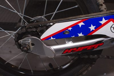 "Hyper 16"" Nitro Circus Motobike Kids' Bike rear swingarm"