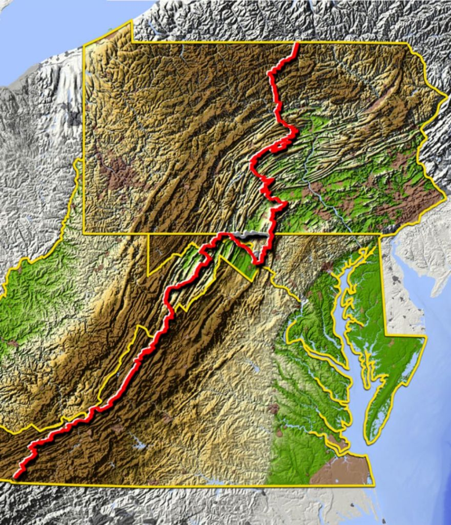 Mid-Atlantic BDR route map