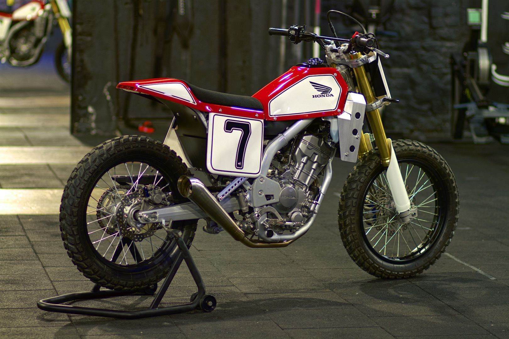 Retro Art Custom Spirit of Flat Track Honda CRF250L